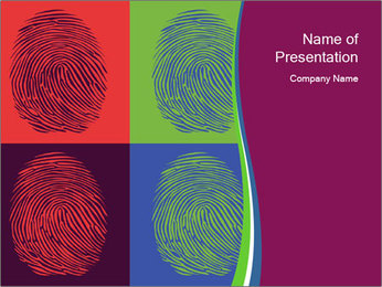 Fingerprints Collage PowerPoint Template