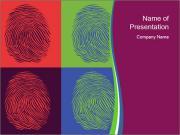 Fingerprints Collage PowerPoint Templates