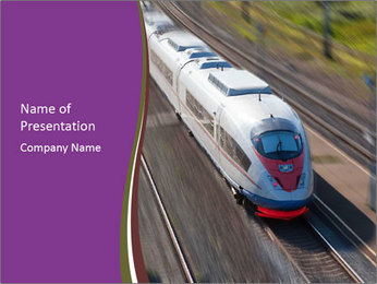 Speed Train PowerPoint Template