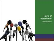 Microphones for Press Conference PowerPoint Templates