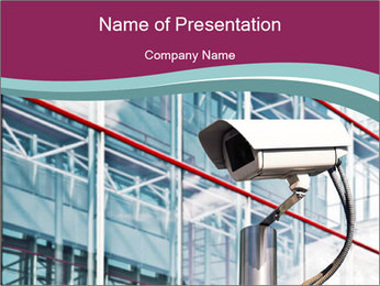 Camera at Airport PowerPoint Template
