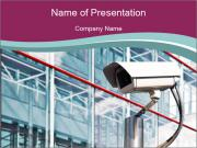Camera at Airport PowerPoint Templates