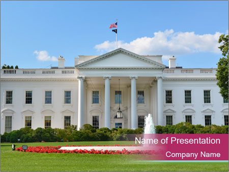 White House Powerpoint Template Backgrounds Google Slides Id