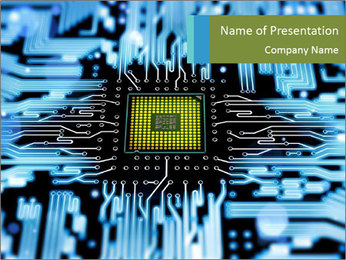 PC Microchip PowerPoint Template
