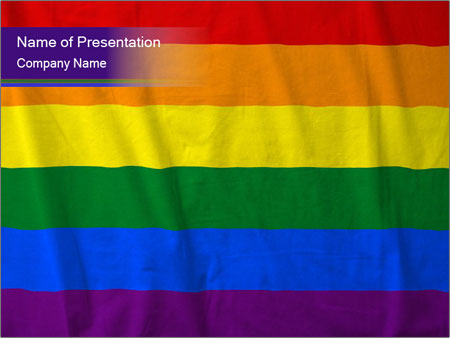 Rainbow flag powerpoint template backgrounds id 0000030567 rainbow flag powerpoint templates toneelgroepblik Images