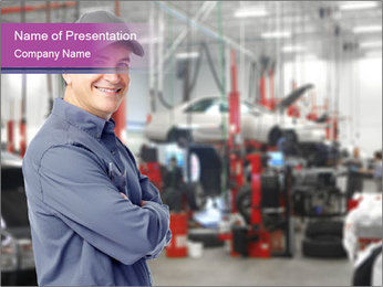 Auto Service PowerPoint Template