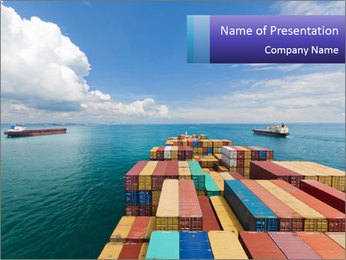 Colorful Containers PowerPoint Template