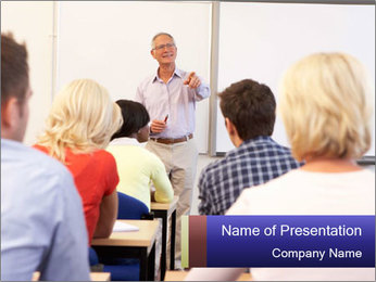 Senior Professor PowerPoint Template