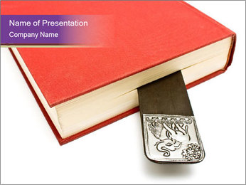 Book with Creative Mark PowerPoint Template