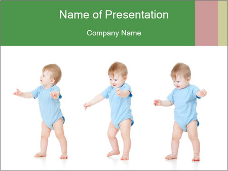 baby doing first steps powerpoint template, backgrounds & google, Template For Children Clothing Presentation, Presentation templates