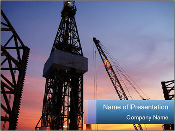 Platform for Drilling Oil PowerPoint Template