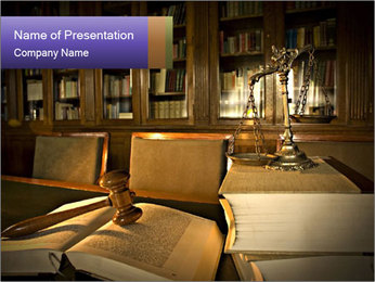 Law Library PowerPoint Template