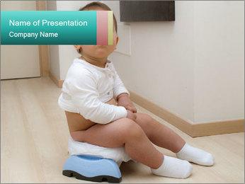 Boy on Potty PowerPoint Template
