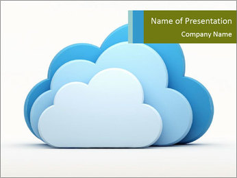 Three Cloud Icons PowerPoint Template