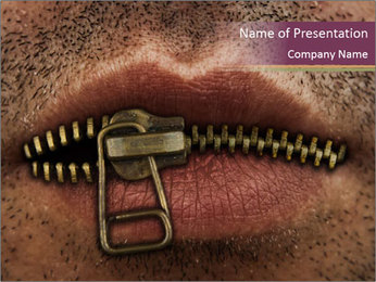 Keep Mouth Closed PowerPoint Template