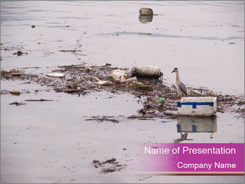 Trash in the River PowerPoint Template