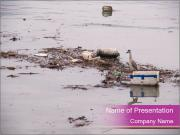 Trash in the River PowerPoint Templates