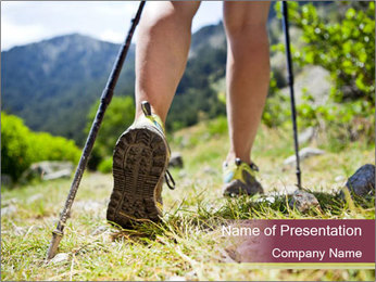 Summer Hiking Trip PowerPoint Template