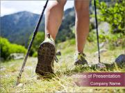 Summer Hiking Trip PowerPoint Templates