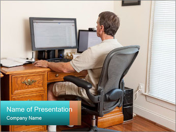 Home Workstation PowerPoint Template