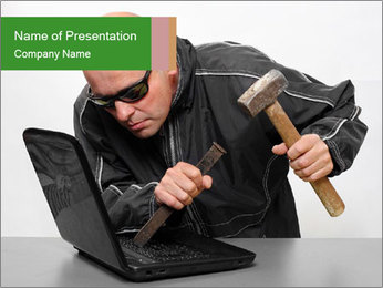 Computer Hacker PowerPoint Template