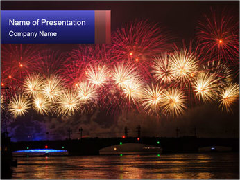 Christmas Fireworks PowerPoint Template