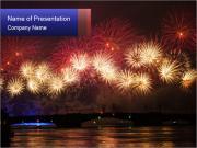 Christmas Fireworks PowerPoint Templates