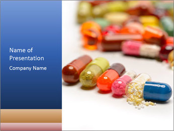 Colorful Pills PowerPoint Template