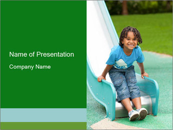 Playing Afro-American Boy PowerPoint Template