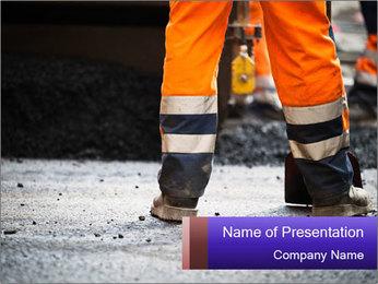 Road Worker in Uniform Modelos de apresentações PowerPoint