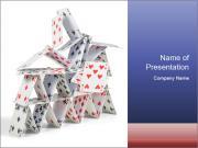 Broken Cards House PowerPoint Templates