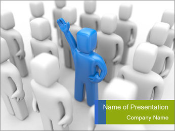 Blue Leading Man PowerPoint Template