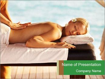 Spa Massage in Bali Resort Modèles des présentations  PowerPoint