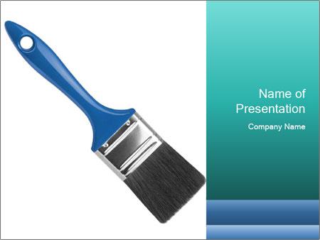 paintbrush powerpoint template smiletemplates com