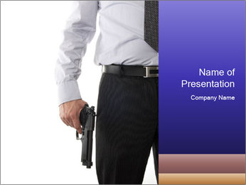 Businessman with Pistol PowerPoint Template