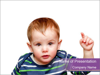 Serious Small Boy PowerPoint Template