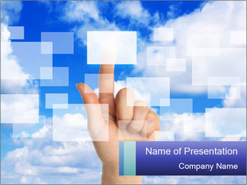 Sky Touchscreen PowerPoint Template