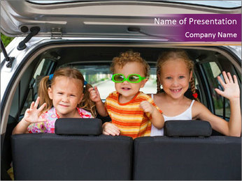 Kids in Auto PowerPoint Template