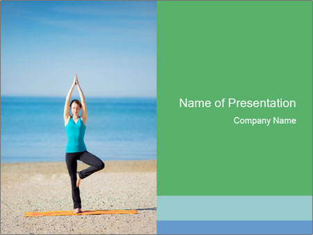 Yoga on the beach powerpoint template backgrounds id 0000031320 yoga on the beach powerpoint template toneelgroepblik Image collections