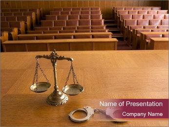 Empty Court PowerPoint Template