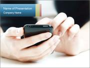 Black Digital Phone Шаблоны презентаций PowerPoint