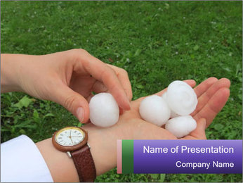 Huge Hail in Summer Season PowerPoint Template