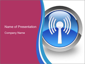 Wireless Internet Icon PowerPoint Template