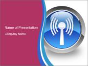 Wireless Internet Icon Шаблоны презентаций PowerPoint
