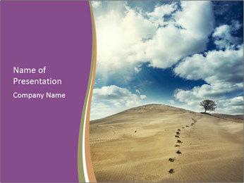 Asian Desert PowerPoint Template