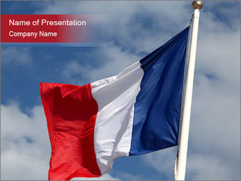 National French Flag PowerPoint Template