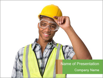 Afro-American Builder PowerPoint Template