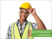 Afro-American Builder PowerPoint Templates