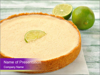 Gourmet Lime Pie PowerPoint Template