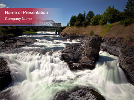 Rocks in the river powerpoint template backgrounds id 0000031577 rocks in the river powerpoint templates toneelgroepblik